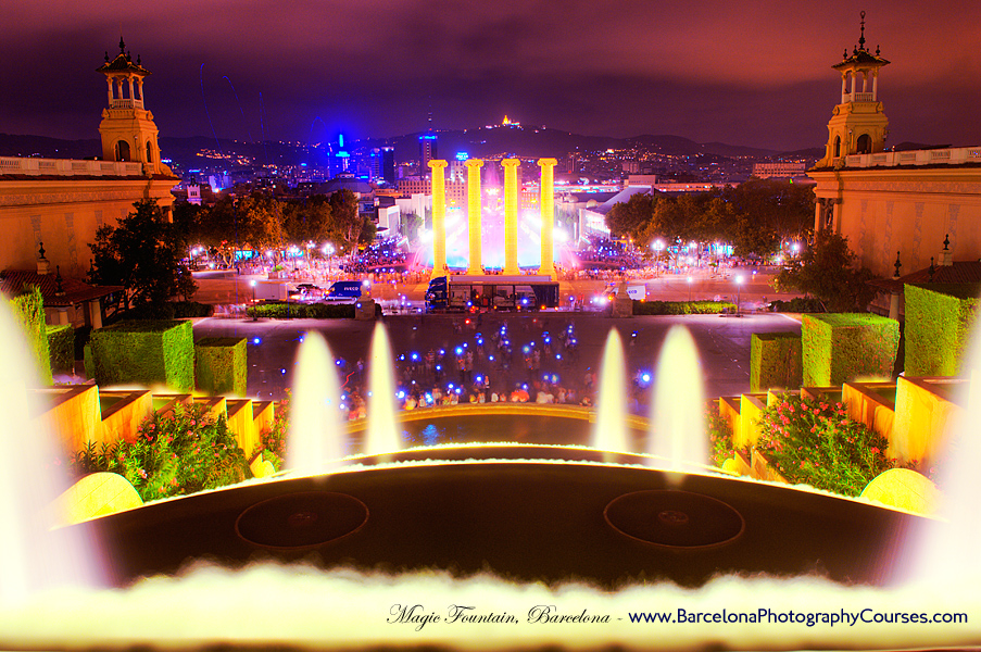 Barcelona Magic Fountain, Montjuic