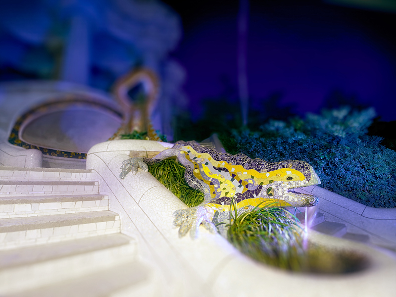 Gaudi's Lizard Statue, Park Guell